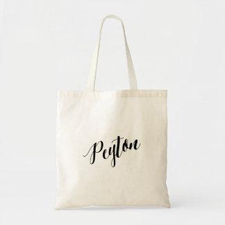 Personalized Script Tote Bag- Peyton