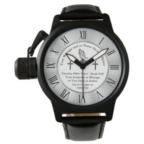 Personalized Scripture Gifts for Him or Her Watch