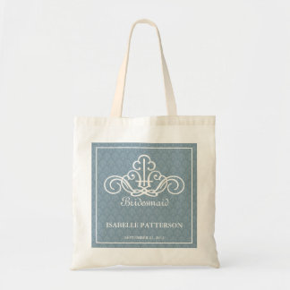 Personalized Scrolls Wedding Party Bag in Blue