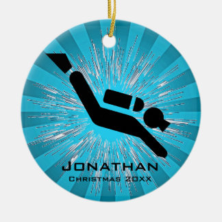 Personalized Scuba Diving Ornament