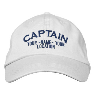 Personalized Sea Captain Hat Embroidered Hats