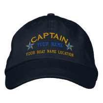 Personalized Sea Captain Stars Ball Cap Embroidery