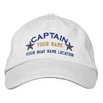 Personalized Sea Captain Stars Ball Cap Embroidery