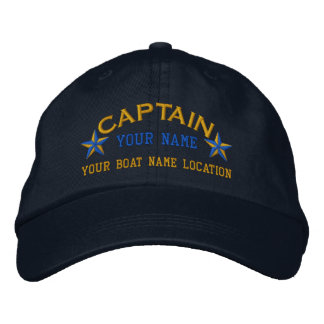 Personalized Sea Captain Stars Ball Cap Embroidery Embroidered Baseball Cap