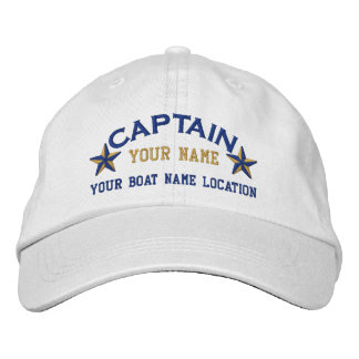 Personalized Sea Captain Stars Ball Cap Embroidery Embroidered Baseball Caps