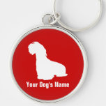 Personalized Sealyham Terrier シーリハム・テリア Silver-Colored Round Keychain