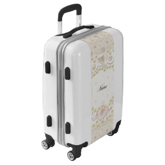 Personalized Seashells and Pearls Luggage