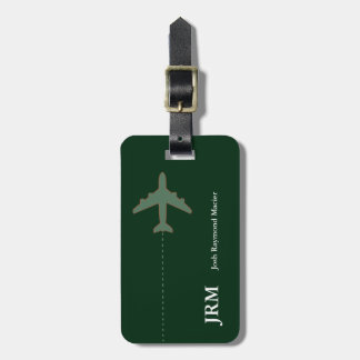 personalized secure travel airplane bag tag