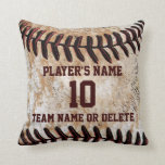 "Personalized Senior Baseball Player Gift Ideas Throw Pillow<br><div class=""desc"">They will cherish one of these Coolest Vintage Personalized Baseball Pillows for the perfect Senior Baseball Player Gift Ideas. Call for HELP: 239-949-9090. Personalized Baseball Team Gifts for Players, Fans and Baseball Lovers. Click &quot;MORE&quot; to see all 3 ( * Three) text boxes to Personalize ONE PILLOW at a time....</div>"