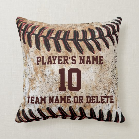 Photo Pillow Gift Ideas: Personalized Senior Baseball Player Gift Ideas Throw Pillow    ,