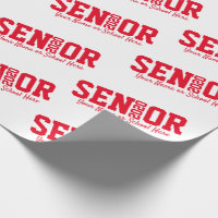 Personalized Senior Block Letter Class of 2020 Red Wrapping Paper