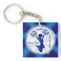Personalized Senior Cheerleader Gifts, Your Text Keychain
