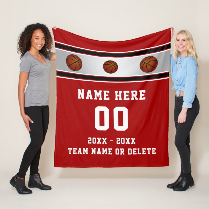 Personalized Senior Night Basketball Gift Ideas Fleece Blanket Zazzle Com
