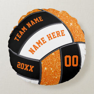 Personalized Senior Volleyball Gifts In Your Color Round Pillow
