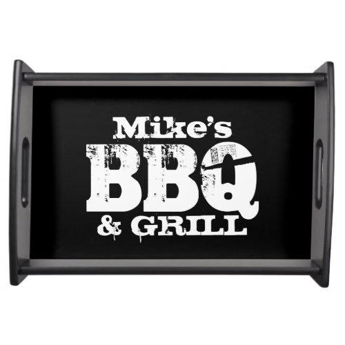 Personalized serving tray for BBQ party