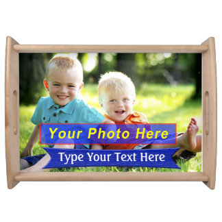 Personalized Serving Trays with YOUR PHOTO & TEXT