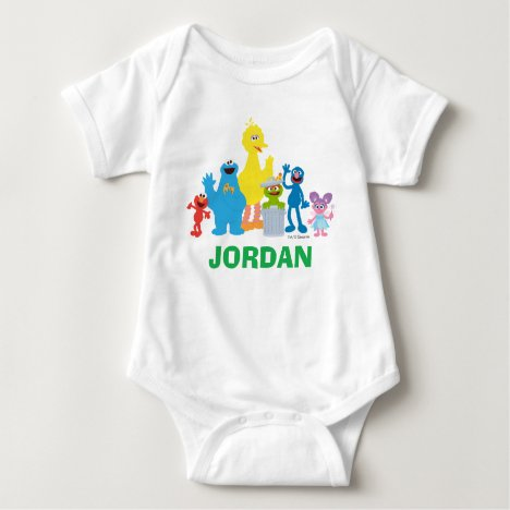 Personalized Sesame Street Characters Baby Bodysuit