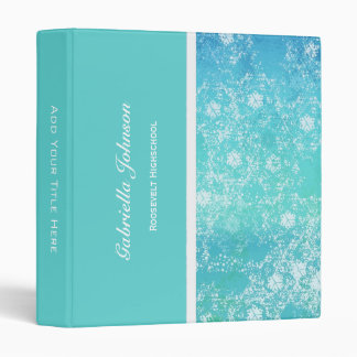 Personalized: Shades Of Blue Binder