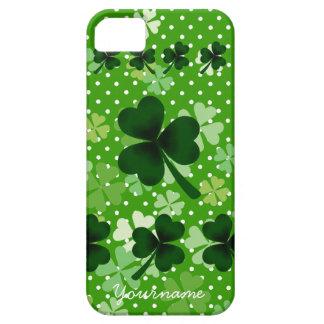 Personalized Shamrock and Polka Dot iPhone SE/5/5s Case