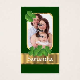 Personalized shamrock business card