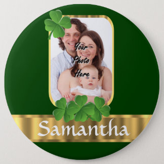 Personalized shamrock button