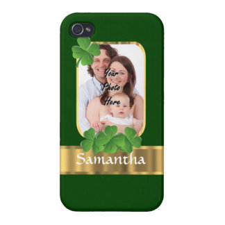 Personalized shamrock iPhone 4/4S cover