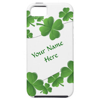 Personalized shamrocks iPhone 5 cover