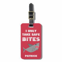 Personalized Shark Dairy Allergy Epinephrine Alert Luggage Tag