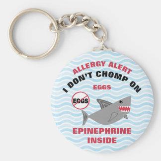 Personalized Shark Egg Allergy Alert Epinephine Keychain
