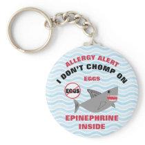Personalized Shark Egg Allergy Epinephrine Kids Keychain