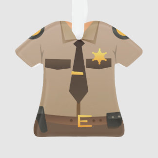 Personalized Sheriff Christmas Holiday Ornament