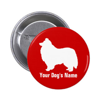 Personalized Shetland Sheepdog シェットランド・シープドッグ Button