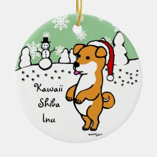 Personalized Shiba Inu Puppy Christmas Christmas Tree Ornament
