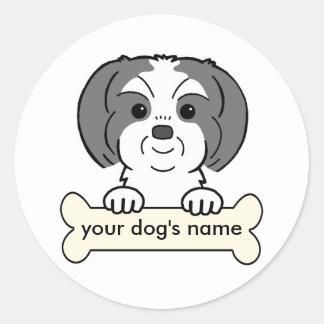 Personalized Shih Tzu Classic Round Sticker