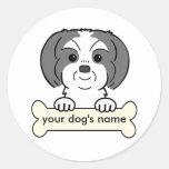 Personalized Shih Tzu Round Sticker