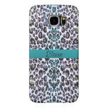 Personalized Shimmering Rainbow Leopard Print Case Samsung Galaxy S6 Cases
