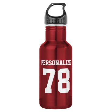 logotees Personalized shiny metallic sports water bottle