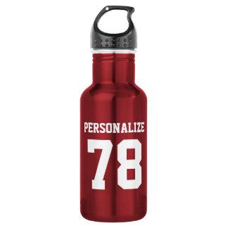 Personalized shiny metallic sports water bottle 18oz water bottle