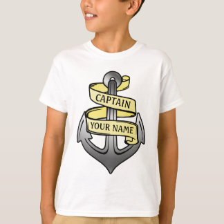 Personalized Ship Captain Your Name Anchor T-Shirt