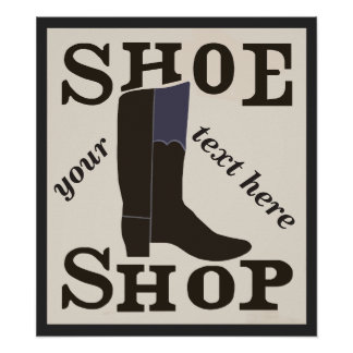 Personalized Shoe Shop Poster