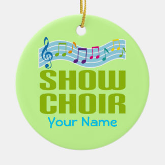 Personalized Show Choir Music Ornament