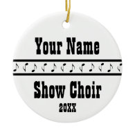 Personalized Show Choir Music Ornament Keepsake