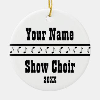 Personalized Show Choir Music Ornament Keepsake