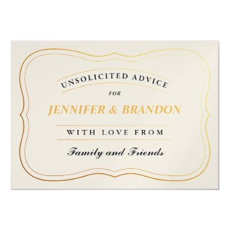 Personalized Shower Advice Cards Bride or New Mom