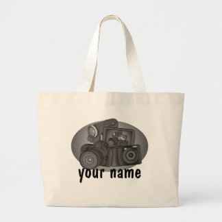Personalized Shutter Bug Large Tote Bag