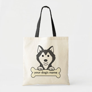 Personalized Siberian Husky Tote Bags