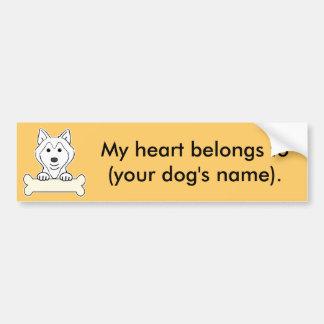 Personalized Siberian Husky Bumper Sticker