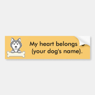 Personalized Siberian Husky Bumper Stickers