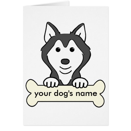 Personalized Siberian Husky Greeting Cards