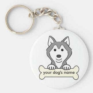 Personalized Siberian Husky Keychain
